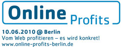 Online Profits am 10. Juni — guess who is on the panel ;-)