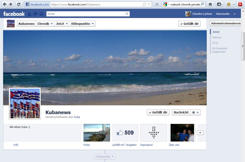 Facebook Chronik Bild Kubnews