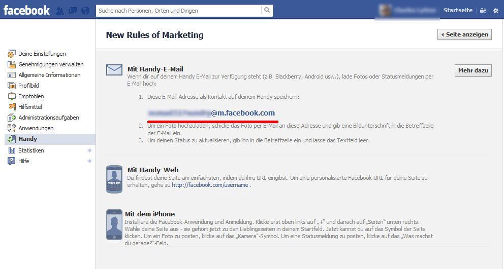 Facebook Email Schreiben