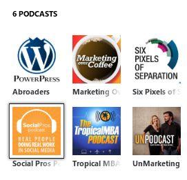 Screenshot Podcasts in Zune